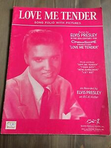 Old Elvis song folio with pictures