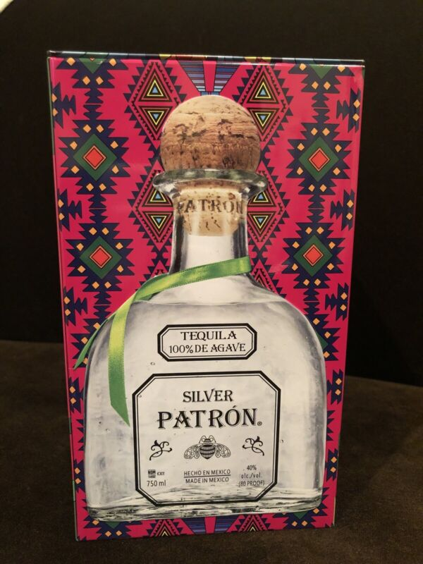 Silver Patron Tequila Empty Tin With All Inserts Veronica Villarreal Sada Mexico