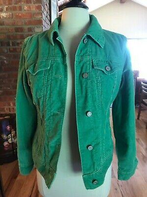 GAP Green Corduroy Coat Sherpa Lined  Trucker  Jacket Style Womens  S/M 6-8