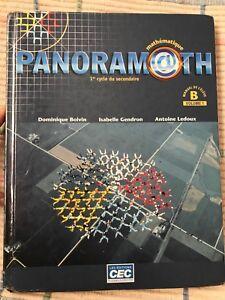 Manuel «Panoramath» mathématique