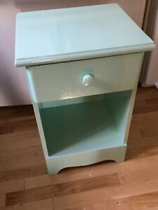Light blue single bedside table