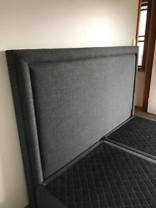 King Size charcoal Grey Bedhead Narellan Camden Area Preview