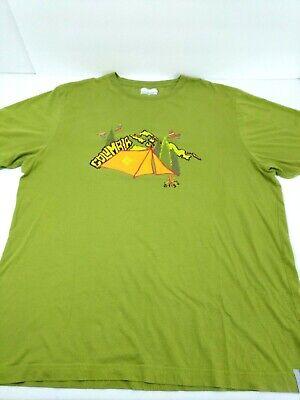 Columbia Men T-Shirt Camping Tent Camp Hiking Mountain Climb Size Large Green (Columbia Tent)