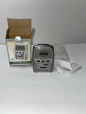 ***GENUINE HOWARD MILLER ACCUWAVE RADIO CONTROLLED LCD ALARM CLOCK (645-506)***