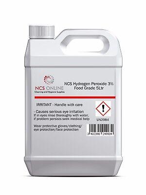 Hydrogen Peroxide 3% Food Grade 5 Litre (5L)