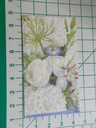 """Two Decorative Hostess Napkins for Decoupage """"White Blooms"""""""