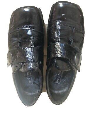 JOSEF SEIBEL black Patent LEATHER Sticky STRAP SHOES size 38 (5) Comfortable