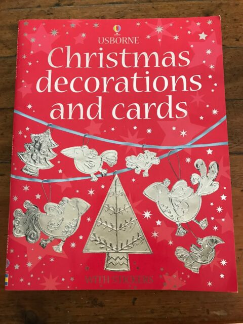 Usborne Christmas Decorations And Cards With Stickers Magazines