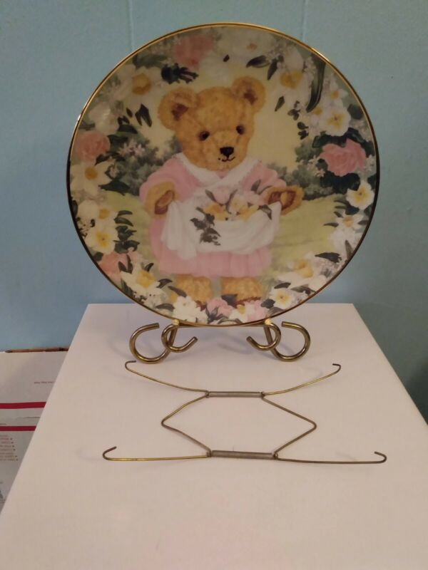 Franklin Mint Collectors Plate Teddy