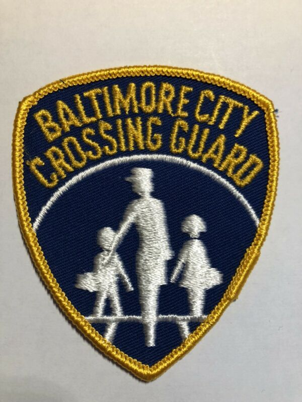 Baltimore City Crossing Guard Patch~New Condition