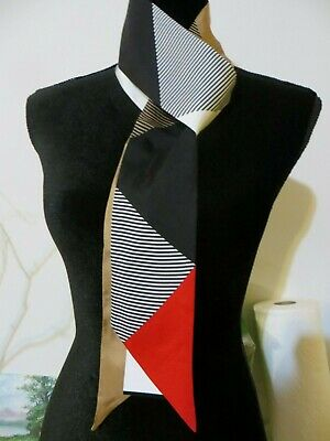 NWT BURBERRY LONDON ENGLAND 100% SILK SCARF/BANDEAU MADE IN ITALY