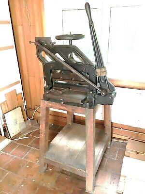 Ancien Machine à trancher couper Leipzig Karl Krause Imprimerie 82366