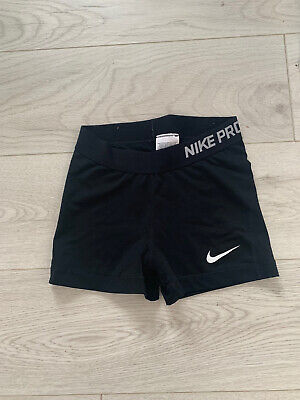 Nike Pro Dri Fit Black 3 Inch Shorts Size Extra Small