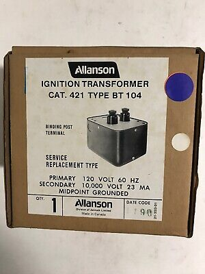 Allanson 421 Type Bt104 Ignition Transformer