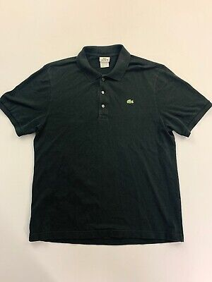 Lacoste Men's Black Short Sleeve Polo Shirt Size 7, 2XL