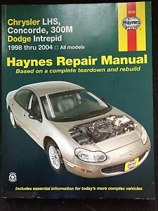 Repair Manual Chrysler LHS, Concord, 300M, Dodge Intrepid