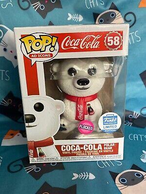 Funko Pop Ad Icons Coca Cola Polar Bear Flocked #58 Funko Shop Ex