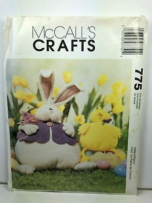 McCall's Crafts Easter Bunny Chick Stuffed Animal Uncut Sewing -