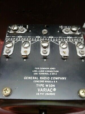 General Radio Co. W10h 240vac Variacautotransformer 0280vac Outputtested