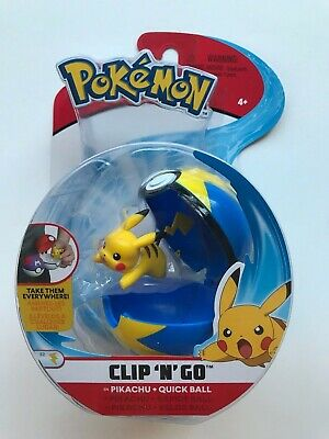 Pokemon Pikachu Clip n Go Quick Ball Poke Ball Authentic WCT 2019 Figure Set