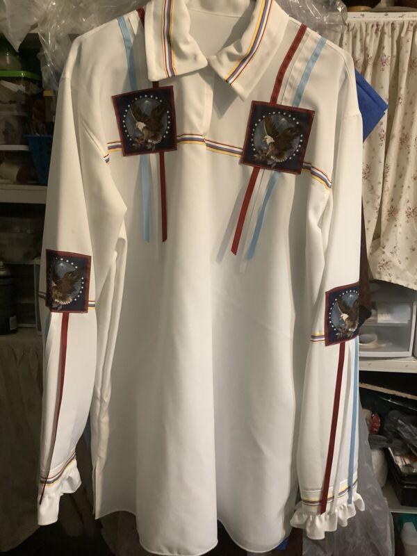 Native American ribbon shirt man size L-XL