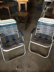 Vintage patio folding chairs