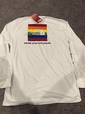 New The North Face Rainbow Parade Box Logo Limited Mens Large
