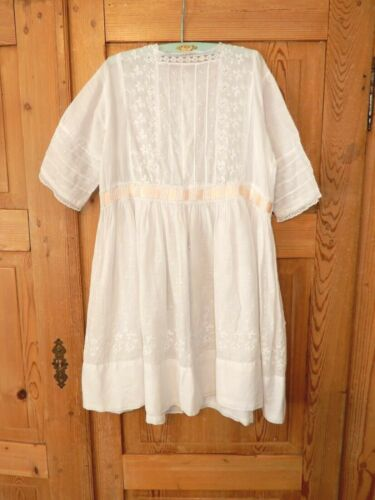 Lovely Antique Edwardian Childs White Lace Lawn Dress