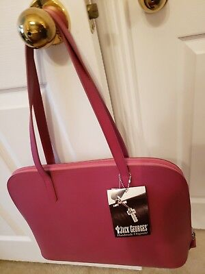 *NWT*Jack Georges*ROSE French Collection LARGE Three Way Zip TOTE BAG 9916, $200