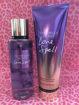 Victoria's Secret Love Spell Body Mist 8.4 fl oz & Lotion 8 fl oz, Full Size