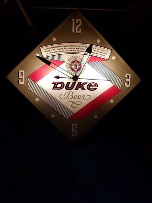 Vintage Duke Beer Clock  By PAM Clock Co.