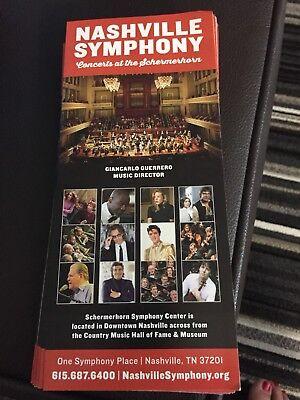 Rick Springfield with Nashville Symphony Brochure