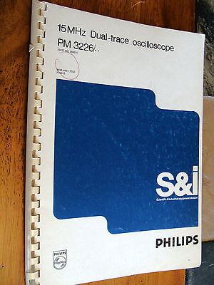 Fluke Philips Pm3226 Dual Trace Oscilloscope Operations Maintenance Manual