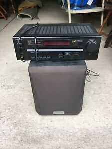 Kenwood 100W Receiver and Sub