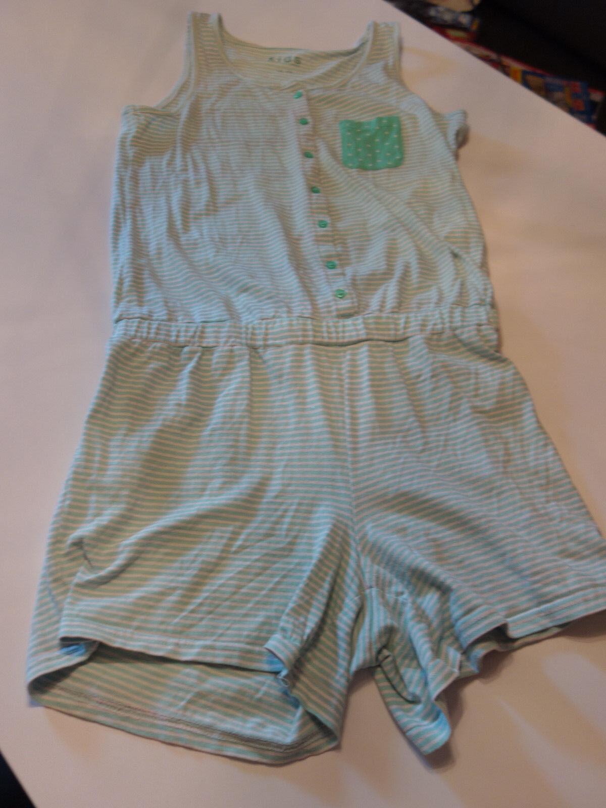 Schlafanzug Overall kurz Einteiler Jumpsuit Sommer Mädchen Gr146/ 152