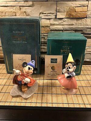 """WDCC Fantasia Sorcerer Mickey """"Mischievous Apprentice"""" and Princess Minnie Mouse comprar usado  Enviando para Brazil"""