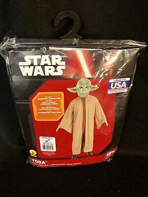 Star Wars Yoda Disney Childs Halloween Costume Size - Yoda Halloween Kostüm