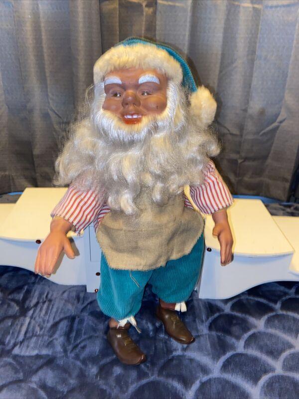 "Antique Handmade stuffed German 16"" Santa Elf Beautiful 🤩 German Elf Awesome"