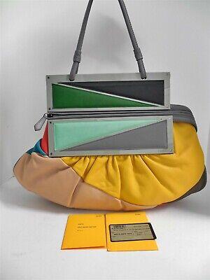 """Fendi Borsa Pochette """"To You"""" Multi Colorblock Nappa Leather Shoulder Clutch Bag"""