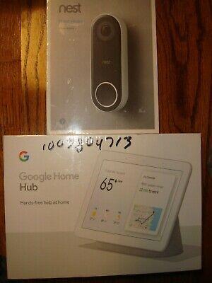 Google Nest Hello Video Doorbell w/ 7 In. Touch Screen Smart Hub- BRAND NEW!