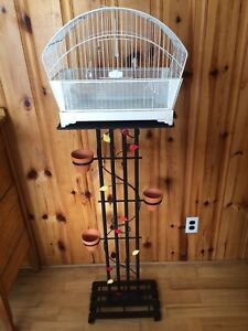 Ornate , Antique Bird cage with stand.