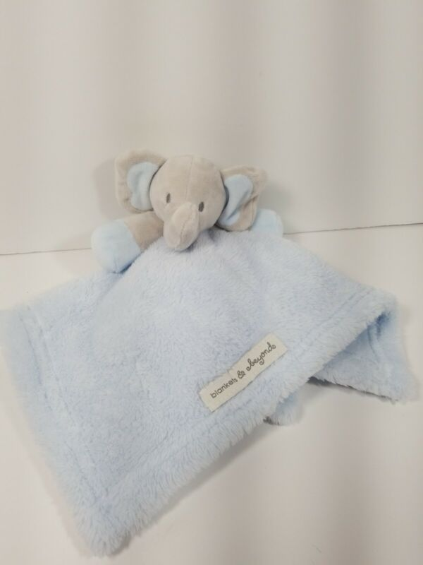 Blankets And Beyond Security Blanket Lovey Blue Grey Elephant Baby Boys Soft