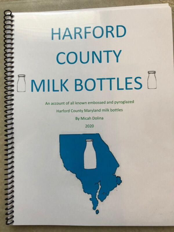 Harford Co Maryland Milk Bottle Book Aberdeen Belair Havre De Grace Md