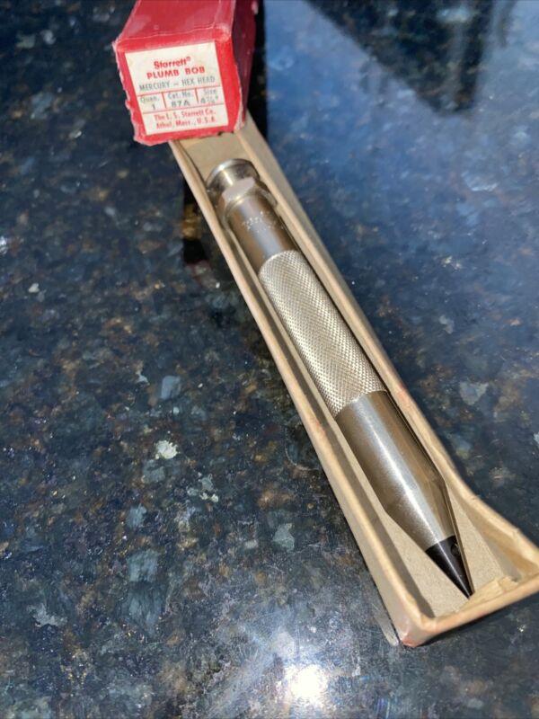 L.S. Starrett No. 87A 4 In. Plumb Bob Vintage - Made in U.S.A