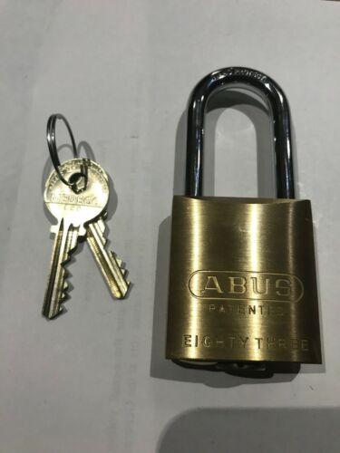 "Abus 83/45 w/ a Medeco Cylinder. 2"" Shackle. 2 Keys. New. High Security."