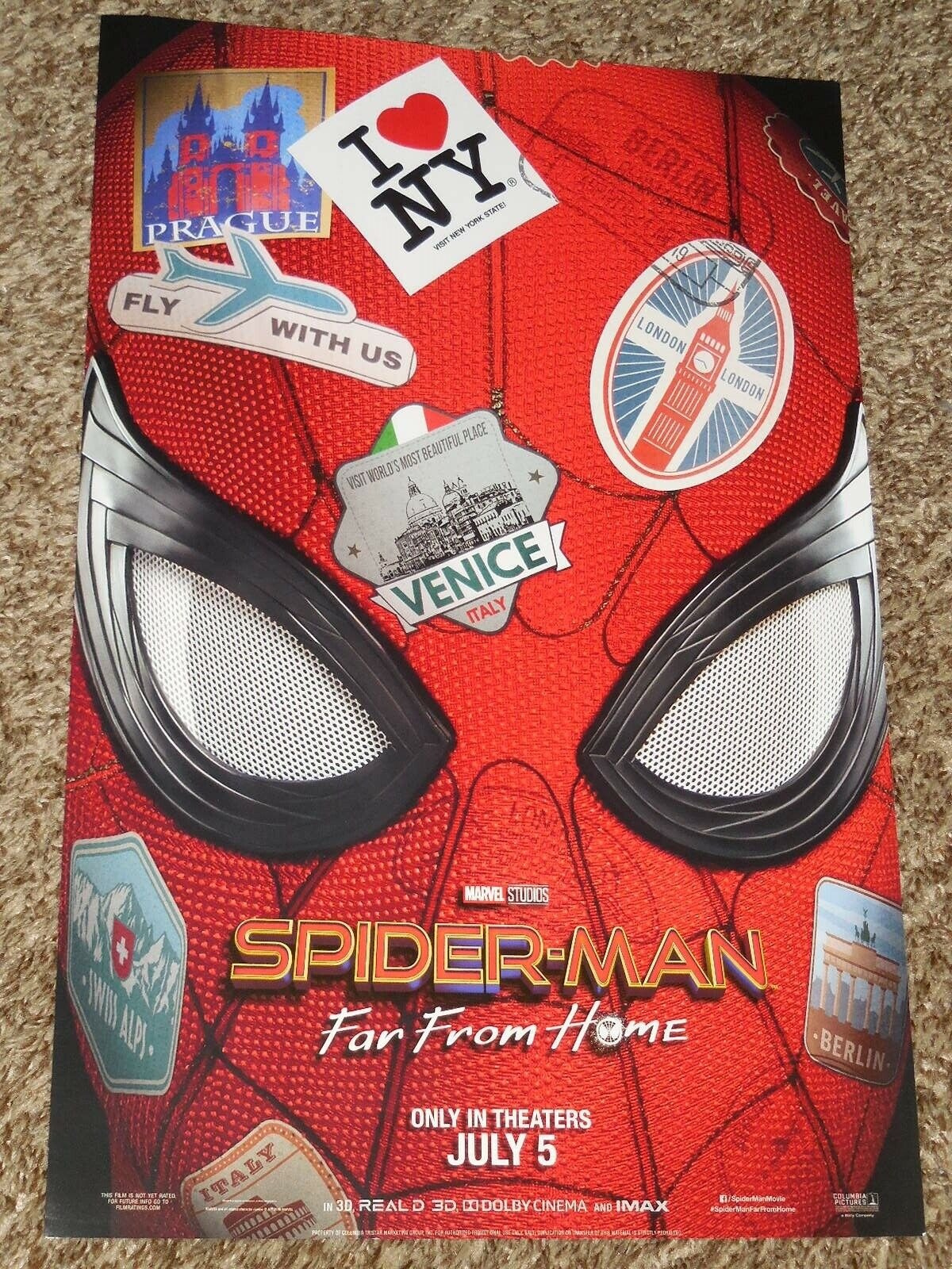 Details About Spider Man Far From Home 11x17 Promo Movie Poster
