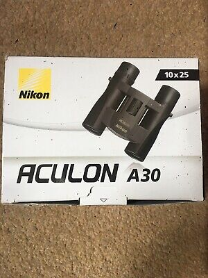 Nikon Aculon A30 10x25 Binoculars with Soft Case - OPENED BUT NEVER USED!