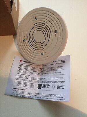 Simplex 4902-9721 White Ceiling Speaker Fire Alarm