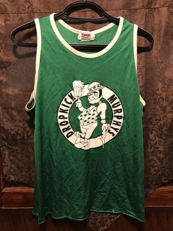 DROPKICK MURPHYS BOSTON RARE XL ~ Celtics 33 Larry Bird Beer Tank Top Shirt
