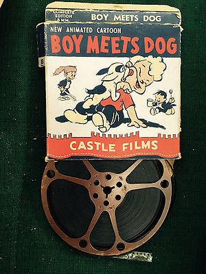 BOY MEETS DOG  CASTLE FILMS 8MM CARTOON  CARTOON 1950'S Animation Family Anim NR
